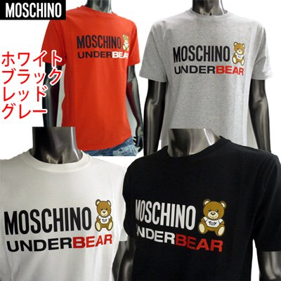 <img class='new_mark_img1' src='https://img.shop-pro.jp/img/new/icons15.gif' style='border:none;display:inline;margin:0px;padding:0px;width:auto;' /> 2019SS モスキーノ(MOSCHINO) メンズ フロントロゴ・ベアプリントT 4color カットソー 白/赤/灰色/黒  1920 8133 1/114/489/555 91S