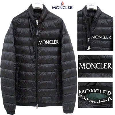 <img class='new_mark_img1' src='//img.shop-pro.jp/img/new/icons15.gif' style='border:none;display:inline;margin:0px;padding:0px;width:auto;' /> モンクレール(MONCLER) メンズ フロントロゴ付ダウンジャケット NEVEU ロゴ ダウン 黒 白 4036194 C0019 999 NEVEU GB91S