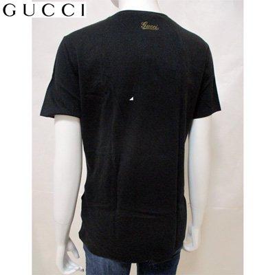 グッチ(GUCCI) Tシャツ トップス レディース 半袖 クルーネック ブランドロゴ コットン 黒 ブラック 173501 X9319 1000 【送料無料】 7S
