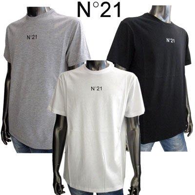 ヌメロンベントゥーノ メンズ Tシャツ フロントロゴ入りカットソー 3色 白/黒/灰色 F026 6332 1101/9000/8939  91A【送料無料】【2019年秋冬新作】