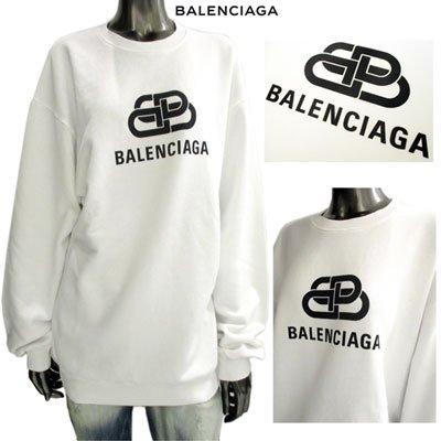 バレンシアガ(BALENCIAGA) メンズ ユニセックス着用可 BBロゴ・BALENCIAGAロゴ入りスウェット 578132 TEV19 9044 91A