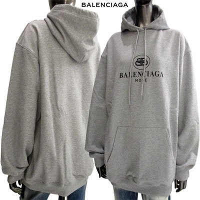 <img class='new_mark_img1' src='//img.shop-pro.jp/img/new/icons15.gif' style='border:none;display:inline;margin:0px;padding:0px;width:auto;' /> バレンシアガ(BALENCIAGA) メンズ  ユニセックス着用可 BBロゴ・BALENCIAGAロゴフーディー 570798 TFV75 1300 91A