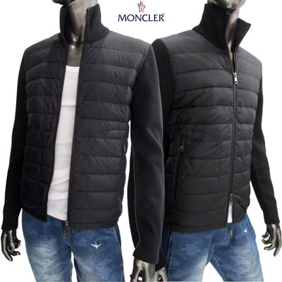 <img class='new_mark_img1' src='//img.shop-pro.jp/img/new/icons15.gif' style='border:none;display:inline;margin:0px;padding:0px;width:auto;' /> モンクレール(MONCLER) メンズ MAGLIONE TRICOT CARDIGAN ウールニット切替スリムダウンジャケット  9412700 94666 999 91A