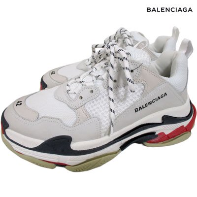 <img class='new_mark_img1' src='//img.shop-pro.jp/img/new/icons1.gif' style='border:none;display:inline;margin:0px;padding:0px;width:auto;' />バレンシアガ(BALENCIAGA) メンズ ダッドスニーカー 靴 triple S  BALENCIAGAロゴ刺繍スニーカー グレー 533882 W09E1 9000 (R118800)