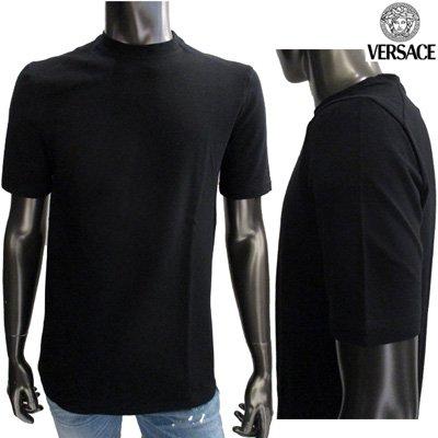 ヴェルサーチ(Versace) 【サイズS】半袖 Tシャツ メンズ トップス クルーネック ブラック 黒 20254 101763 008 (SIG 040) 【送料無料】 IT10S