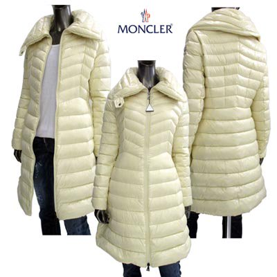 <img class='new_mark_img1' src='https://img.shop-pro.jp/img/new/icons5.gif' style='border:none;display:inline;margin:0px;padding:0px;width:auto;' />モンクレール(MONCLER) レディース アウター ダウンコート FAUCON アームロゴ付オールホワイトダウンコート 白 4931005 68950 070 (R187000) EC91A
