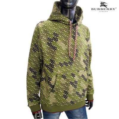 <img class='new_mark_img1' src='https://img.shop-pro.jp/img/new/icons1.gif' style='border:none;display:inline;margin:0px;padding:0px;width:auto;' />バーバリー(BURBERRY)メンズ 総柄BURBERRYロゴプリント入パーカー ブラウン カーキ 8014354 A6850 KAHKI (R103400) GB91A