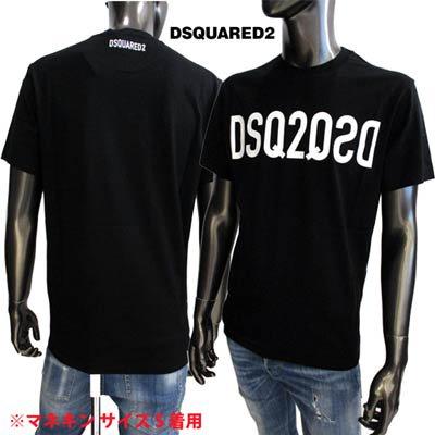 ディースクエアード DSQUARED2 メンズ トップス Tシャツ 半袖 フロントDSQ2QSDロゴ・バックスモールロゴプリント付Tシャツ ブラック S74GD0787 S22844 900