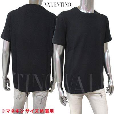 <img class='new_mark_img1' src='https://img.shop-pro.jp/img/new/icons1.gif' style='border:none;display:inline;margin:0px;padding:0px;width:auto;' />ヴァレンティノ VALENTINO メンズ トップス Tシャツ 半袖 ロゴ 裾部分VALENTINOロゴプリント付Tシャツ ブラック VV3MG07D 735 N01