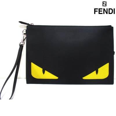 フェンディ(FENDI) メンズ 鞄 バッグ クラッチバッグ ロゴ ユニセックス可 バッグバグズデザインレザークラッチバッグ