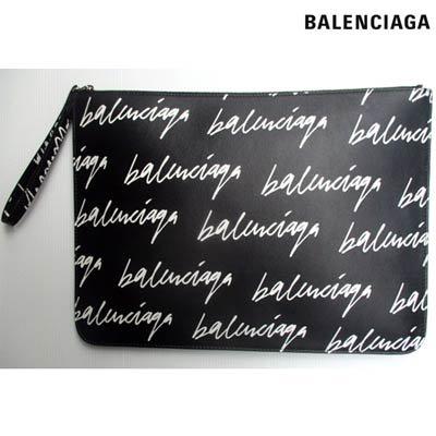 バレンシアガ BALENCIAGA メンズ 鞄 バッグ クラッチバッグ ユニセックス可 ロゴ 総柄BALENCIAGA