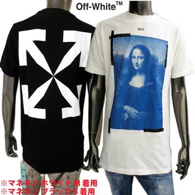 オフホワイト(OFF-WHITE) メンズ トップス Tシャツ 半袖 ロゴ 2color モナリザ絵画プリントロゴTシャツ OMAA027R 21JER002 0110/1001