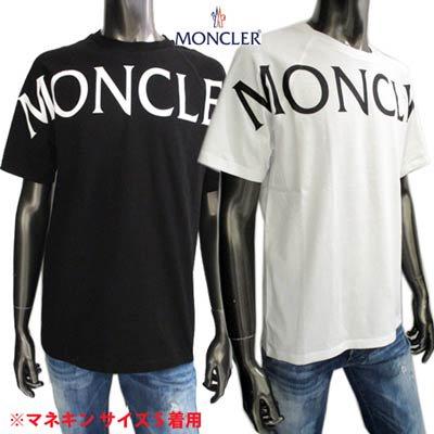モンクレール MONCLER メンズ トップス Tシャツ 半袖 ロゴ 2color フロントビックロゴプリント・バックロゴワッペン付きTシャツ  8C7C510 829H8 001