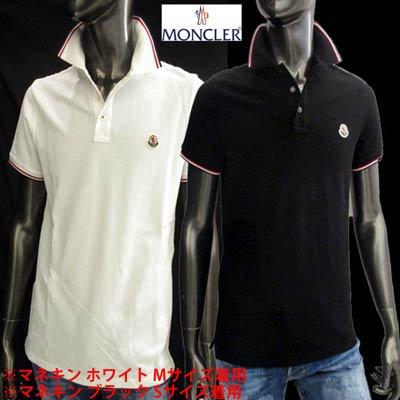 モンクレール(MONCLER) メンズ トップス シャツ ポロシャツ 半袖 ロゴワッペン・ネック部分/袖口トリコロールライン サイドスリット付ポロシャツ  8A70300 84556 001/99