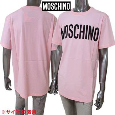 モスキーノ(MOSCHINO) メンズ トップス Tシャツ 半袖 ロゴ フロントMOSCHINOロゴ・ピンクカラーTシャツ ピンク A0705 0240 1242