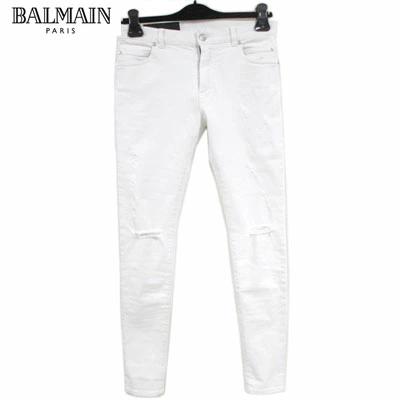 バルマン(BALMAIN) メンズ ボトムス パンツ デニム ジーンズ ホワイトクラッシュデニム ホワイト RH15618 D050 0FA