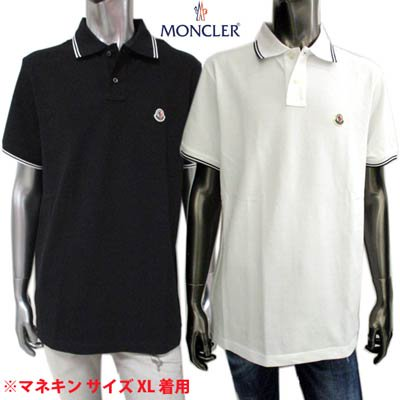 <img class='new_mark_img1' src='https://img.shop-pro.jp/img/new/icons1.gif' style='border:none;display:inline;margin:0px;padding:0px;width:auto;' />モンクレール MONCELR メンズ トップス ポロシャツ 半袖 ロゴワッペン・襟/袖口ライン・襟裏トリコロールライン付きポロシャツ 8A70600 84556 001/999