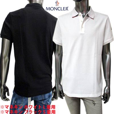 <img class='new_mark_img1' src='https://img.shop-pro.jp/img/new/icons1.gif' style='border:none;display:inline;margin:0px;padding:0px;width:auto;' />モンクレール MONCELR メンズ トップス ポロシャツ 半袖 ロゴ 2color アームロゴワッペン・襟裏MONCLERロゴ付ポロシャツ 白/黒 8A70510 84556 001/999