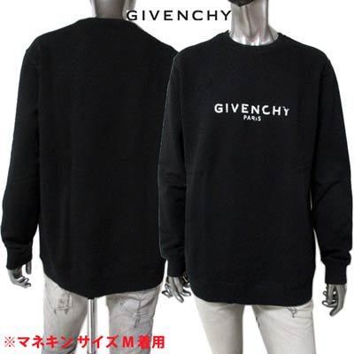 <img class='new_mark_img1' src='https://img.shop-pro.jp/img/new/icons1.gif' style='border:none;display:inline;margin:0px;padding:0px;width:auto;' />ジバンシー GIVENCHY メンズ トップス スウェット トレーナー  ロゴ GIVENCHYダメージ加工ロゴ付きスウェット ブラック BM700U 30AF 001