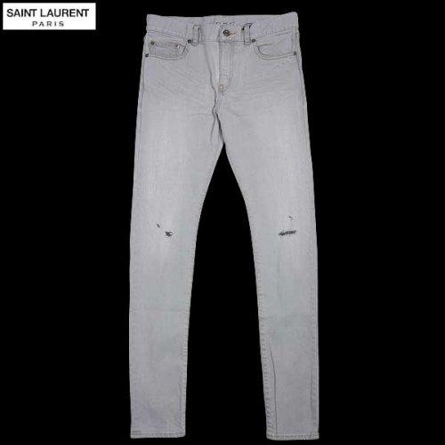 サンローランパリ SAINT LAURENT PARIS メンズ パンツ ボトムス ダメージ/クラッシュ加工スキニーデニム 344124 YM39R 1002 14S