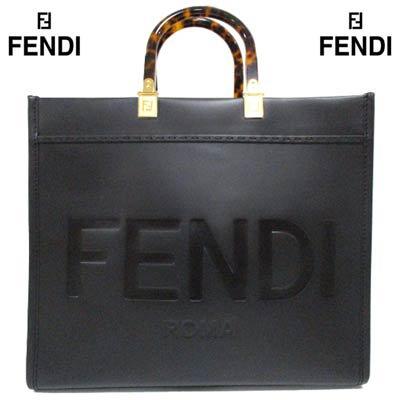 フェンディ FENDI メンズ 鞄 バッグ トートバッグ unisex可 持ち手鼈甲柄・金具FFロゴ・型押しロゴ・2wayレザートートバッグ 8BH386 ABVL F0KUR