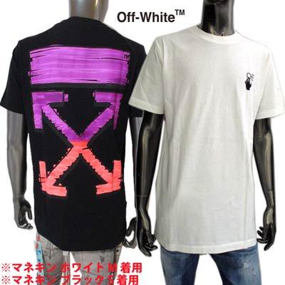 オフホワイト(OFF-WHITE) メンズ トップス Tシャツ 半袖 ロゴ 2color ハンドロゴ・バックグラフィティーアローロゴプリント OMAA027R 21JER003