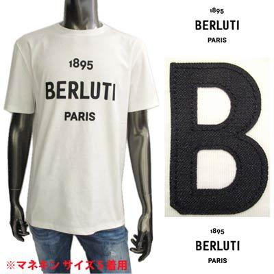ベルルッティ BERLUTI メンズ トップス Tシャツ 半袖 ロゴ BERLUTI 1895ロゴワッペン付きTシャツ ホワイト R18JRS50 003