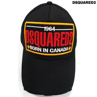 ディースクエアード(DSQUARED2) メンズ 帽子 キャップ ロゴ クラッシュ加工・ビッグロゴ刺繍付きキャップ  BCM0354 05C00001 2124
