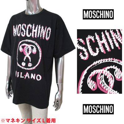 スキーノ(MOSCHINO) メンズ トップス Tシャツ 半袖 ロゴ ユニセックス可 MOSCHINOグラフィティーロゴプリント付オーバーサイズTシャツ ブラック A0702 0440 2555