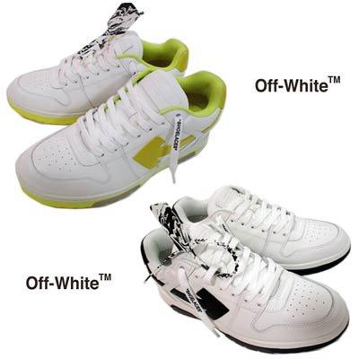 オフホワイト OFF-WHITE メンズ 靴 スニーカー ロゴ 2color シューレースロゴ・ボディ矢印ロゴ・バック/ソール部分ロゴ刻印付ミドルカットスニーカー OMIA189R 21LEA
