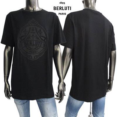 ベルルッティ(BERLUTI) メンズ トップス Tシャツ 半袖 ロゴ フロントロゴデザイン・胸元センター部分ロゴミシン加工縫いTシャツ R18JRS51 004 900