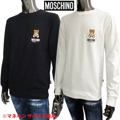 <img class='new_mark_img1' src='https://img.shop-pro.jp/img/new/icons1.gif' style='border:none;display:inline;margin:0px;padding:0px;width:auto;' />モスキーノ MOSCHINO メンズ トップス ロンT ロゴ 2color チェスト部分MOSCHINO BEARロゴプリント・サイドロゴタグ付きロングTシャツ A1811 8126 1/555