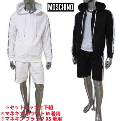 <img class='new_mark_img1' src='https://img.shop-pro.jp/img/new/icons1.gif' style='border:none;display:inline;margin:0px;padding:0px;width:auto;' />モスキーノ MOSCHINO メンズ トップス パンツ ハーフパンツ セットアップ上下組 2color サイドロゴライン付きセットアップジャージ A1707+A4306 8120 1/555