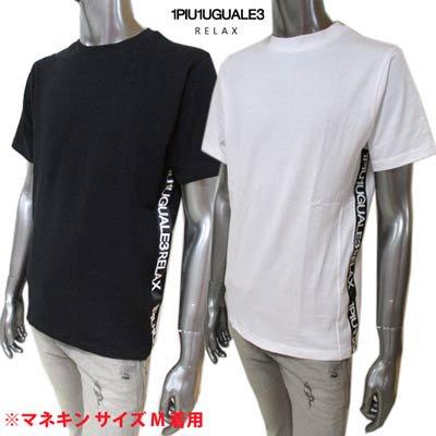 ウノピゥ 1PIU1UGUALE3 RELAX メンズ トップス Tシャツ 半袖 折り鶴刺繍・サイドPIU1UGUALE3ロゴプリント付Tシャツ UST-21004 SN10/SN90<img class='new_mark_img2' src='https://img.shop-pro.jp/img/new/icons2.gif' style='border:none;display:inline;margin:0px;padding:0px;width:auto;' />