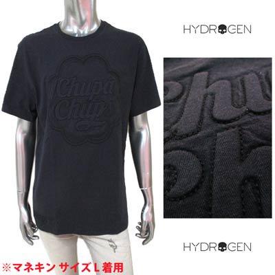 ハイドロゲン HYDROGEN メンズ トップス Tシャツ 半袖 チュッパチャップスエンボス加工ロゴ・裾部分HYDROGENロゴ刺繍付きTシャツ ブラック 284619 007<img class='new_mark_img2' src='https://img.shop-pro.jp/img/new/icons2.gif' style='border:none;display:inline;margin:0px;padding:0px;width:auto;' />