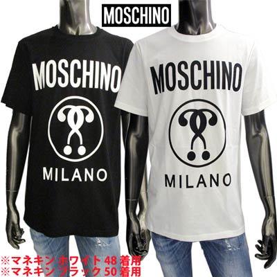 モスキーノ MOSCHINO メンズ トップス Tシャツ 2color  サークルロゴ・MOSCHINOロゴプリント付Tシャツ 白/黒 A0706 5240 1002/1555<img class='new_mark_img2' src='https://img.shop-pro.jp/img/new/icons2.gif' style='border:none;display:inline;margin:0px;padding:0px;width:auto;' />