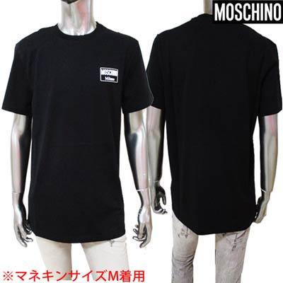 モスキーノ MOSCHINO メンズ トップス Tシャツ チェスト部分Moschino Milano ワッペンロゴ付Tシャツ ブラック A0702 2040 1555 <img class='new_mark_img2' src='https://img.shop-pro.jp/img/new/icons2.gif' style='border:none;display:inline;margin:0px;padding:0px;width:auto;' />