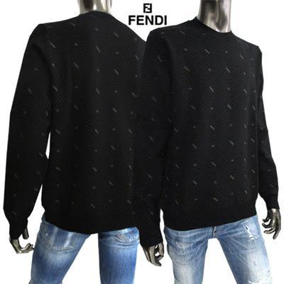 フェンディ(FENDI) メンズ トップス ニット 長袖 ドットロゴ刺繍付ライトニット FZY497 AH2Z
