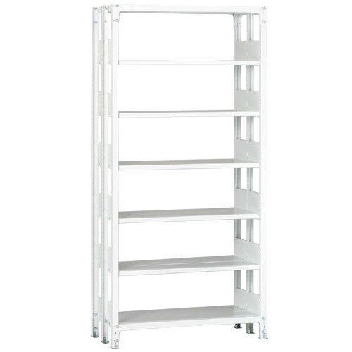 ホワイトラック 軽量書棚(本棚) KU 複式 H2600×W1535×D570(mm)