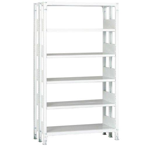 ホワイトラック 軽量書棚(本棚) KU 複式 H2250×W1535×D570(mm)