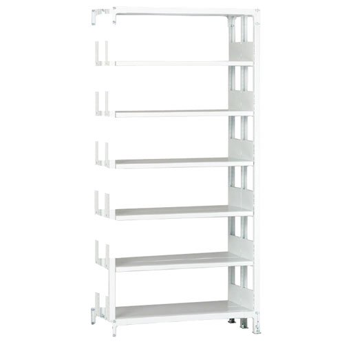 ホワイトラック 軽量書棚(本棚) KU 追加連結棚 複式 H2600×W1500×D570(mm)