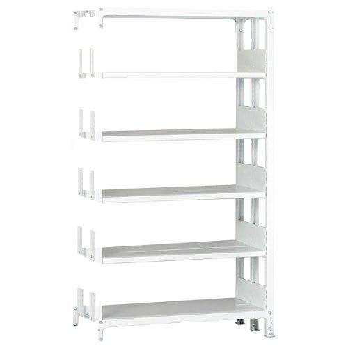 スチール棚 ホワイトラック書棚(本棚)  追加横連結棚 複式 高さ2250mm×幅1200mm×奥行650mm