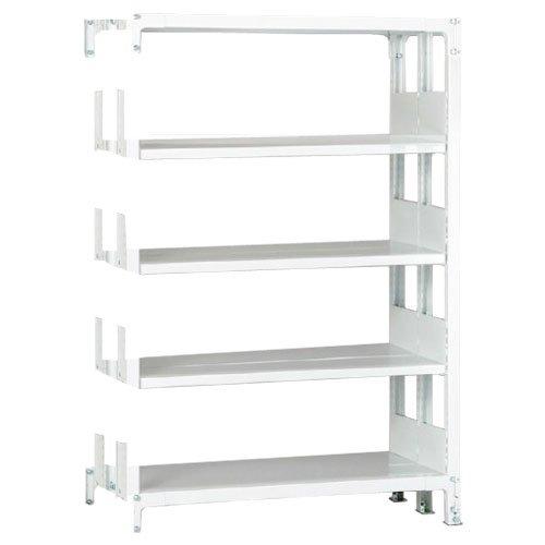 スチール棚 ホワイトラック書棚(本棚)  追加横連結棚 複式 高さ1950mm×幅1200mm×奥行650mm