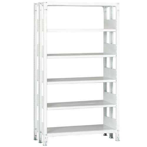 ホワイトラック 軽量書棚(本棚) KU 複式 H2250×W1535×D870(mm)