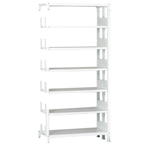 ホワイトラック 軽量書棚(本棚) KU 追加連結棚 複式 H2600×W1500×D870(mm)