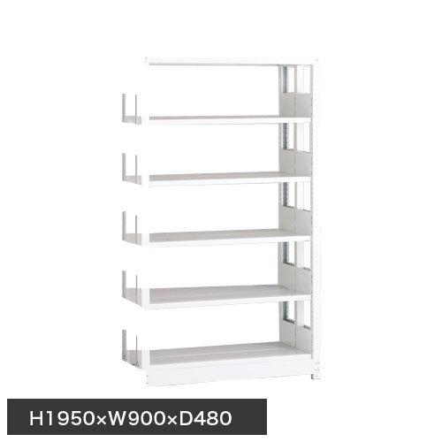 ホワイトラック スチール書架 KCJA 追加連結棚 複式 H1950×W900×D480(mm)