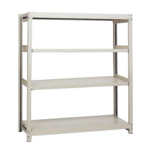 スチール棚 中軽量200kg基本(単体棚) H1500×W900×D450(mm) 棚板4枚