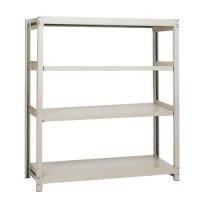スチール棚 中軽量200kg基本(単体棚) H1500×W1200×D450(mm) 棚板4枚の商品画像