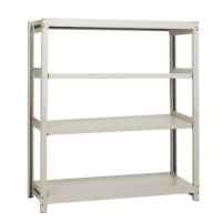 スチール棚 中軽量200kg基本(単体棚) H1500×W1500×D450(mm) 棚板4枚の商品画像