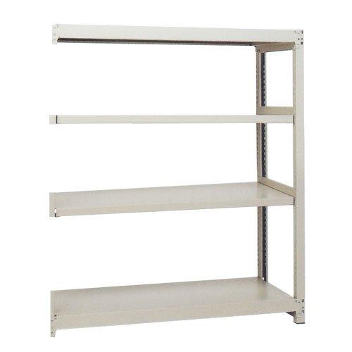 スチール棚 中軽量200kg追加連結棚 H1500×W1160×D450(mm) 棚板4枚